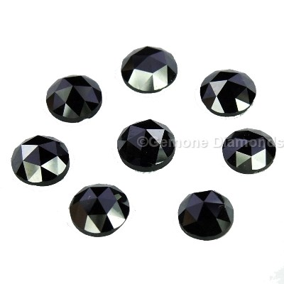 5 to 7 MM calibrated black diamond in lot