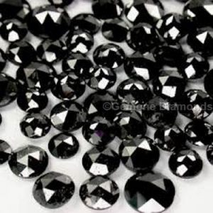 rose cut black diamonds loose