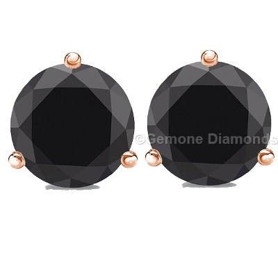 black diamond earrings studs