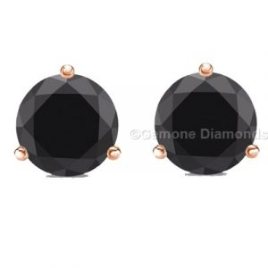 3 prong diamond stud earrings