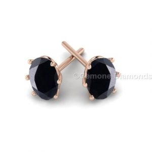 oval diamond stud earrings