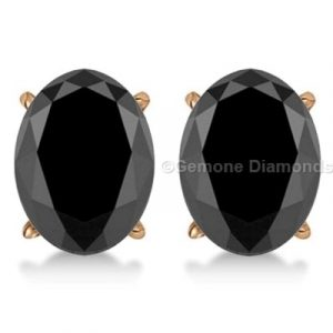 oval diamond stud earrings online