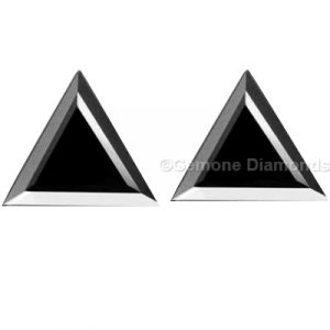 loose triangle shape black diamond