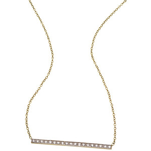 horizontal diamond necklace