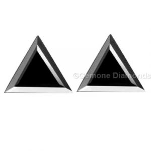 pair black diamond triangle