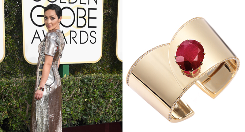 Ruth Negga Reese The Golden Globes 2017 Best Jewelry Moments