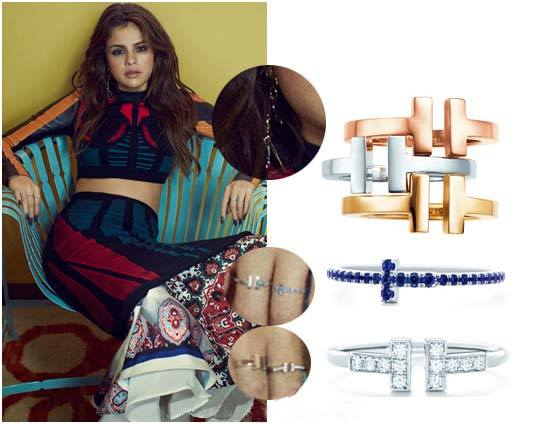 Jewelry By Louis Vuitton and Tiffany & Co. Selena Gomez Jewelry