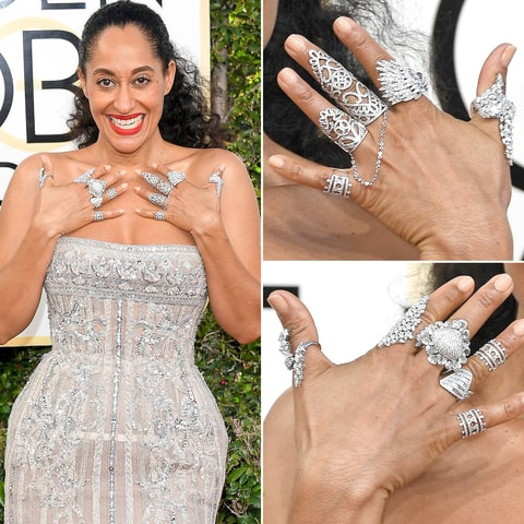 Trace Ellis Ross The Golden Globes 2017 Best Jewelry Moments