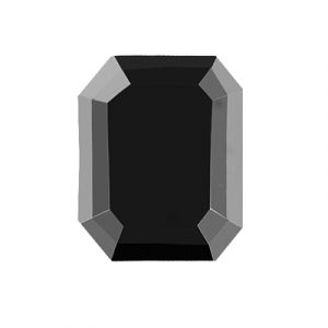 15 Carat Natural Emerald Cut Black Diamond