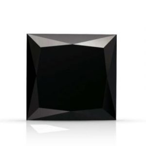 black princess cut diamond