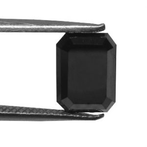 Black Emerald Cut Diamond