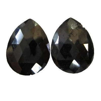 pear rose cut black diamonds