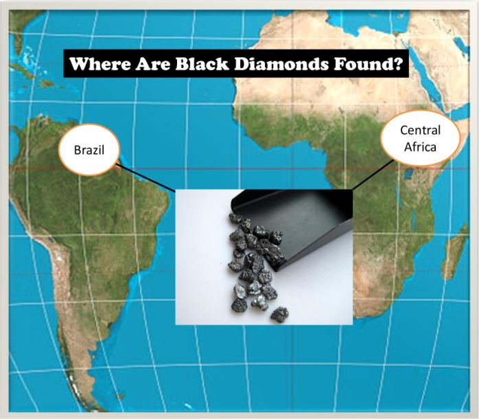 where are black diamonds found, facts about black diamonds
