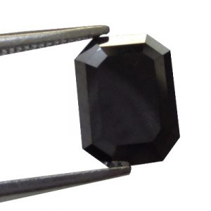 emerald cut natural black diamond