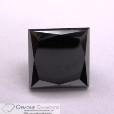 Loose Black Princess Solitaire Diamond