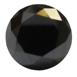 Loose Round Shape Natural Black Diamond