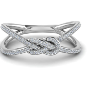 Love Knot White Diamond Ring