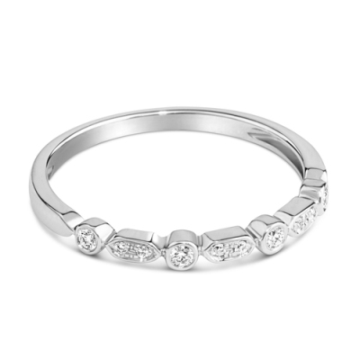 Petite White Tiny Diamond Ring