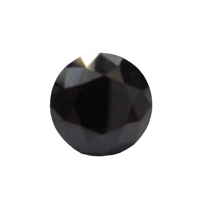 Round Cut Natural Black Diamond