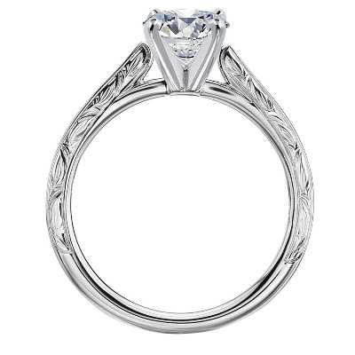 leaf solitaire diamond ring
