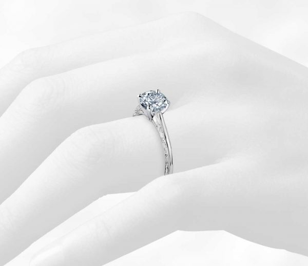 leaf solitaire diamond ring3
