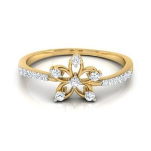 lily flower engagement ring