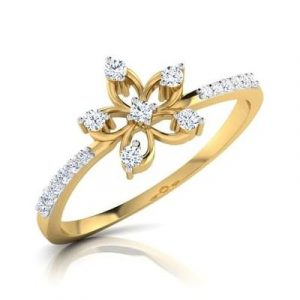lily flower engagement ring1