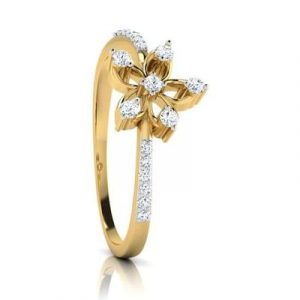 lily flower engagement ring2