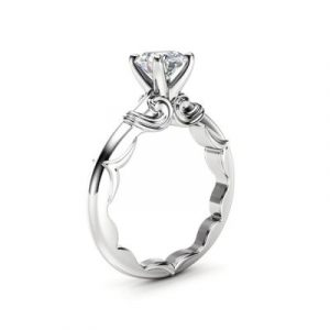 round cut victorian engagement ring