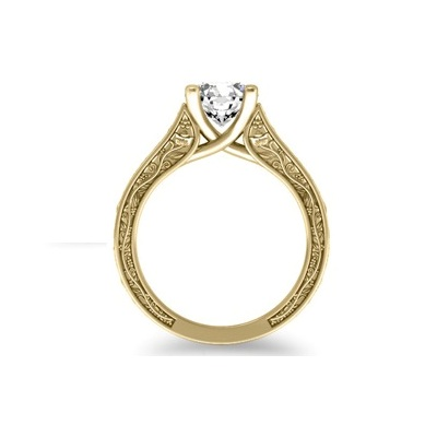 solitaire diamond engagement ring