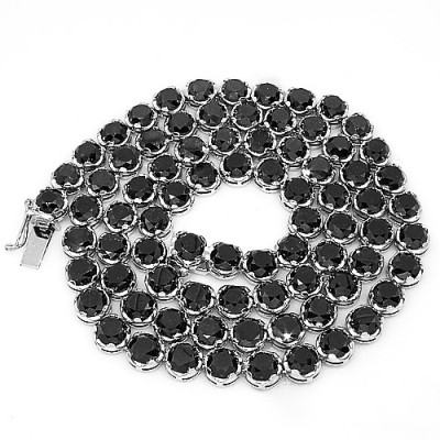 black diamond hip hop necklace