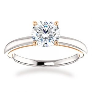 four prong round engagement ring