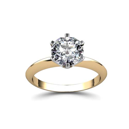 six prongs solitaire diamond ring