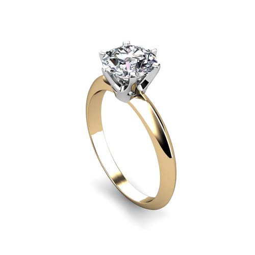 six prong solitaire diamond ring