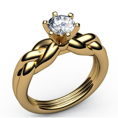 swirl diamond ring yellow gold