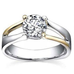 two tone solitaire ring