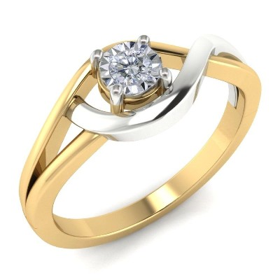 two tone twist engagement ring