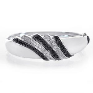 black diamond bangle bracelet