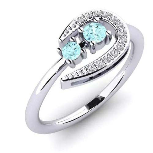 blue aquamarine engagement ring