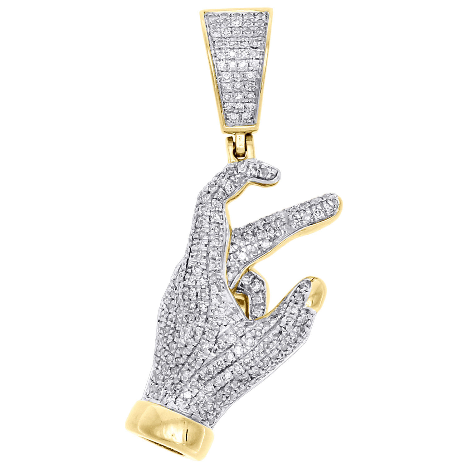 east side hand sign pendant