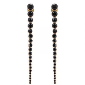 natural black diamond dangle earrings