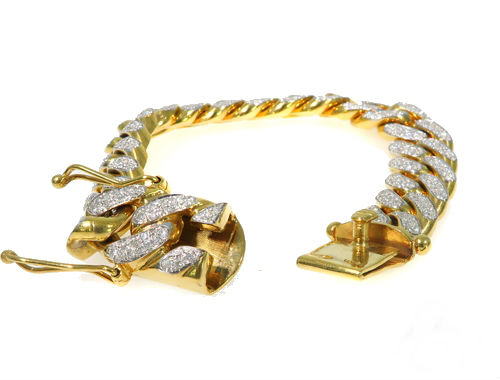 diamond cuban bracelet