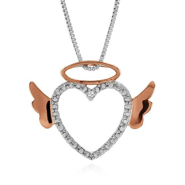 angle Heart diamond pendant