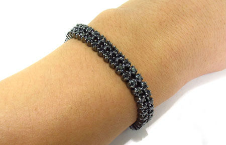 7 00 Carats Black Diamond Bracelets
