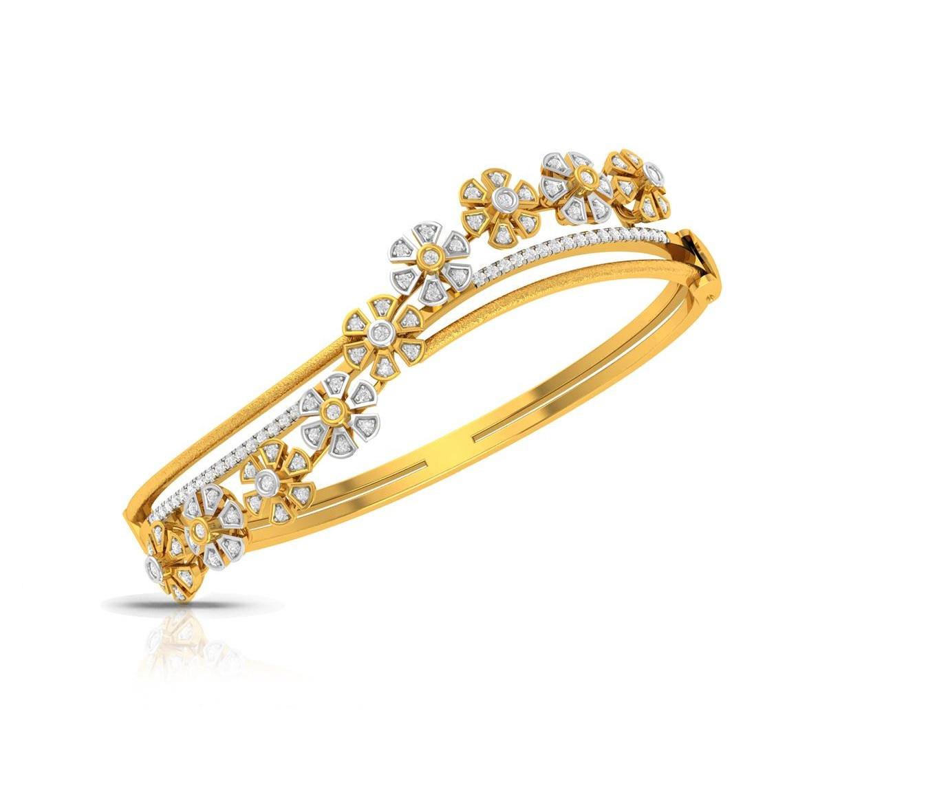 5e690fe31c200 Antique Diamond Bangle Bracelet With 14k Yellow Gold For Sale Online Cuban  Link Bracelet With 6 Carat Diamonds In 14K Yellow Gold.14K Yellow Gold ...