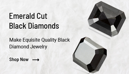 Emerald Cut Black Diamonds