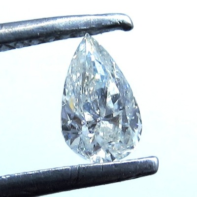 salt and pepper pear cut diamond
