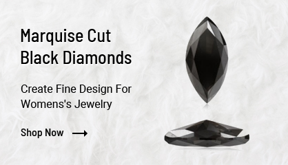 Marquise Cut Black Diamonds