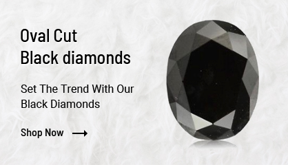 Oval Cut Black Diamonds