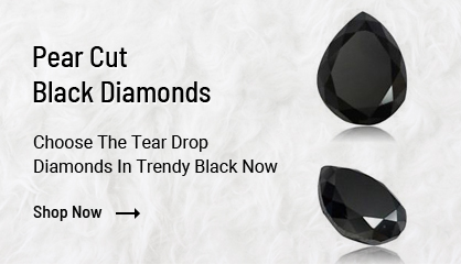 Pear Cut Black Diamonds